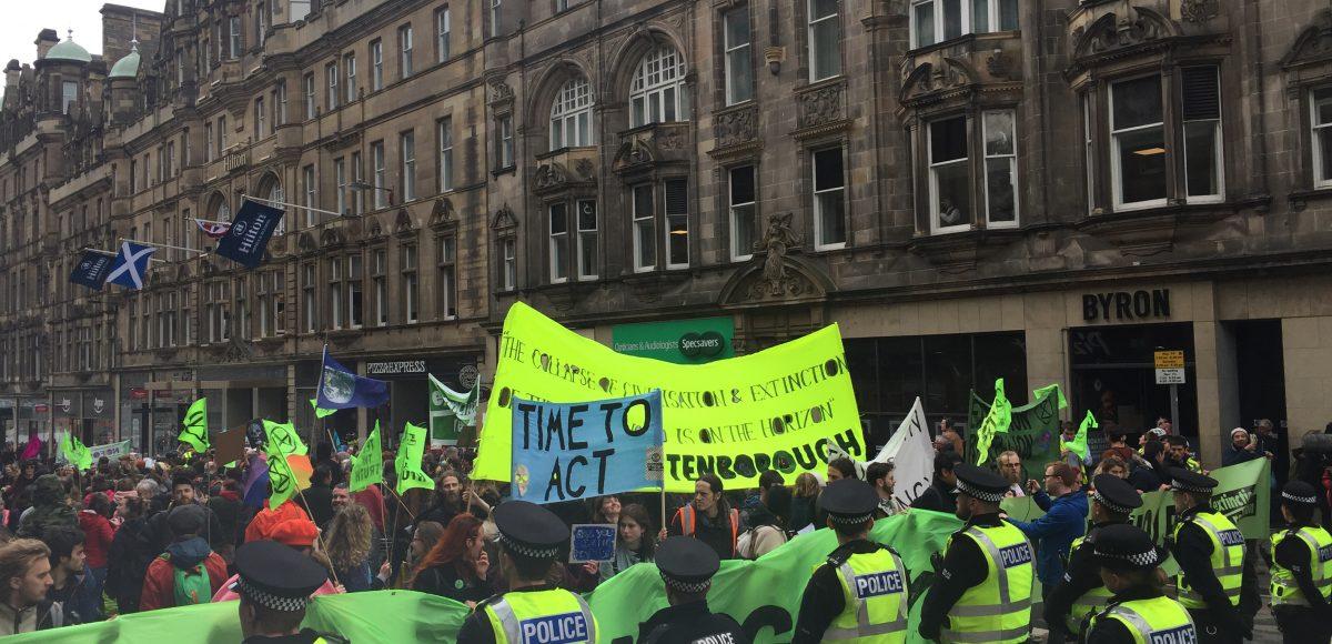 Extinction Rebellion Protest Edinburgh