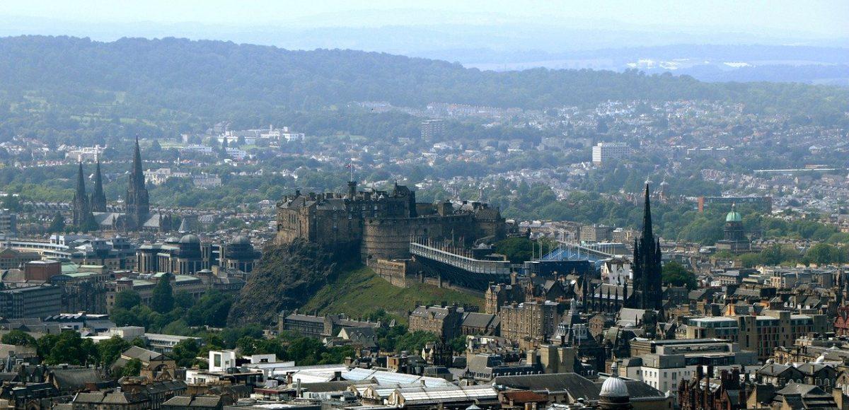 Edinburgh old town from Salisbury Craigs