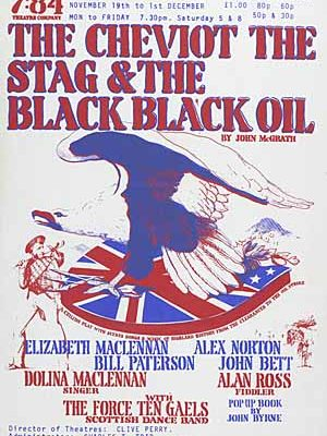 Cheviot The Stag & The Black Black Oil Poster