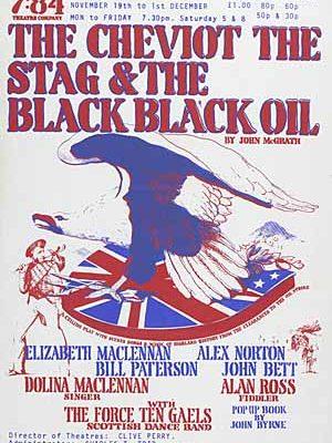 Cheviot The Stag & The Black Black Oil Poster